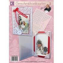 kit de artesanía:2 tarjetas de libro