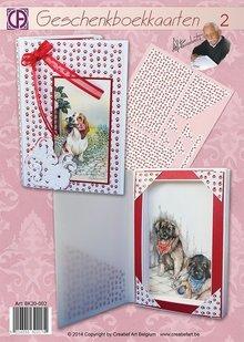 BASTELSETS / CRAFT KITS: kit de artesanía:2 tarjetas de libro