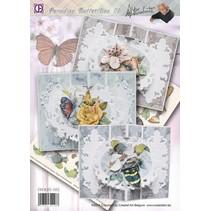 Komplettes Bastelset: Paradise Schmetterlinge