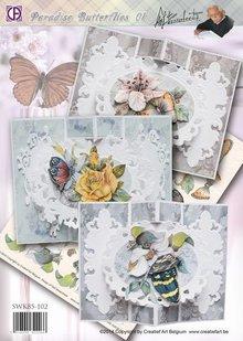 BASTELSETS / CRAFT KITS: Komplettes Bastelset: Paradise Schmetterlinge