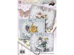BASTELSETS / CRAFT KITS: Komplet Bastelset: Paradise sommerfugle