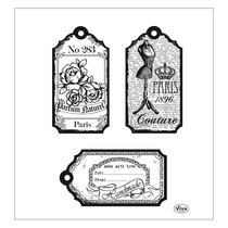 Transparent Stempel, Labels Paris