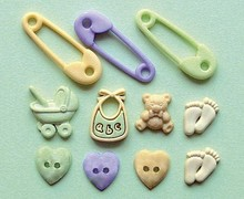 Docrafts / Papermania / Urban Buttons: baby