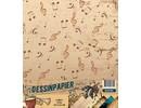 Docrafts / Papermania / Urban carta Designer, 170gr, Musica