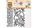 Sticker 1/2 Glitterfoil arco pegatinas despegables: Owl