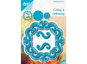 Joy!Crafts und JM Creation Stansning og prægning skabelon: Dekorative ornamental ramme