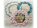 Joy!Crafts und JM Creation Troquelado y estampado en relieve plantilla: Marco decorativo ornamental