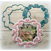 Stansning og prægning skabelon: Dekorative ornamental ramme