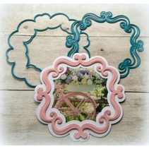Troquelado y estampado en relieve plantilla: Marco decorativo ornamental