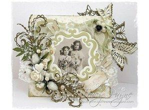 Joy!Crafts und JM Creation Troquelado y estampado en relieve plantilla: Marco decorativo ornamental