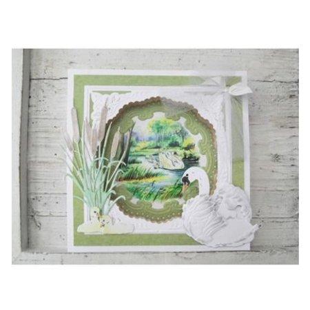 Marianne Design Troquelado y estampado en relieve plantilla: Tiny hierba