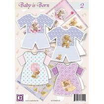 Komplettes Karten Bastelset: Baby