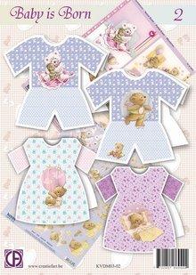 BASTELSETS / CRAFT KITS: Complete card kit: baby