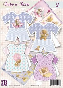BASTELSETS / CRAFT KITS: Komplet Card håndværk kit: Baby