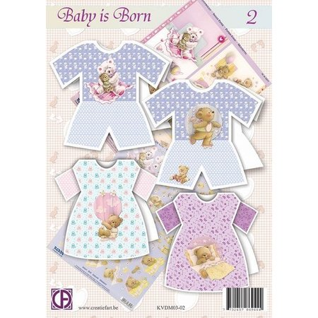 BASTELSETS / CRAFT KITS: Komplettes Karten Bastelset: Baby