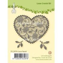 Gennemsigtige frimærker, blonder hjerte