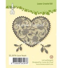Leane Creatief - Lea'bilities I timbri trasparenti, cuore di pizzo