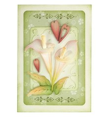 Leane Creatief - Lea'bilities Stamping and embossing stencil: Flower, Cala