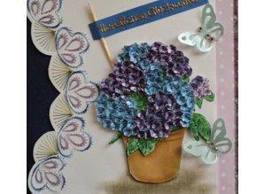 BASTELZUBEHÖR / CRAFT ACCESSORIES Olba flores del ponche + Free Set 1 tarjeta
