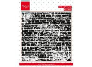 Marianne Design sellos transparentes: la pared de fondo piedras