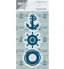 Joy!Crafts und JM Creation Punching and embossing template: anchor, buoy, beach Boat