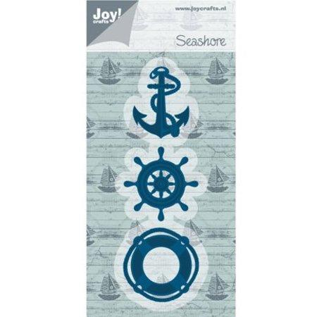 Joy!Crafts und JM Creation Stanz- und Prägeschablone: Anker, Boje, Strandboot