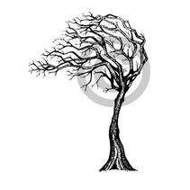 Transparent stempel: Tree