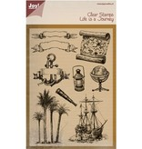 Joy!Crafts und JM Creation Transparent stempel: Livet er en rejse