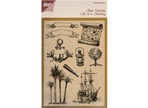 Joy!Crafts und JM Creation Transparent stempel: Livet er en rejse