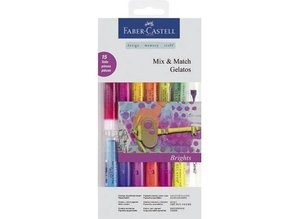 FARBE / INK / CHALKS ... Gelato Set with 12 colors + 1 + 2 brush sponge