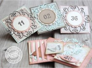Joy!Crafts und JM Creation Punching and embossing template: Mery's curly round
