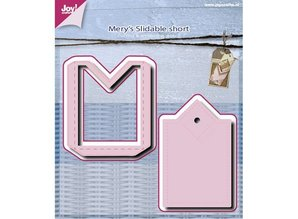 Joy!Crafts und JM Creation Punching and embossing template: Slide Label