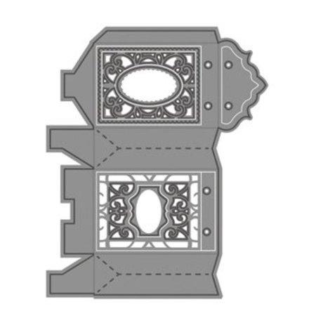 TONIC NYHED: stansning og prægning skabeloner filigrane sæk / boks