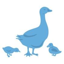 Stansning og prægning skabelon: Mother Goose og kyllinger