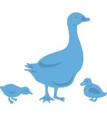 Marianne Design Punzonatura e goffratura modello: Goose Madre e pulcini