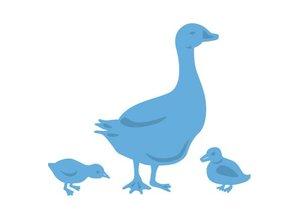 Marianne Design Stansning og prægning skabelon: Mother Goose og kyllinger