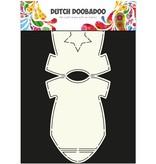 Dutch DooBaDoo A4 skabelon: Baby-kort