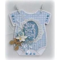 A4 Schablone: Baby Karte