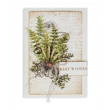 Spellbinders und Rayher Punching and embossing template: Ferns