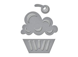 Spellbinders und Rayher Punching and embossing template: Cupcake