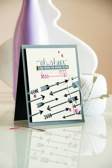 Spellbinders und Rayher Punching and embossing template: arrows
