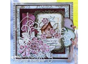 Heartfelt Creations aus USA Sello a juego Set + estampación y cliché de estampado