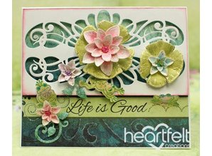 Heartfelt Creations aus USA 2 stamp sets + matching stamping and embossing stencil