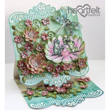 Heartfelt Creations aus USA 2 sets de sellos a juego + y el estampado de la plantilla