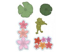Heartfelt Creations aus USA 2 stempel sæt + matchende stempling og prægning stencil