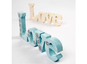 Objekten zum Dekorieren / objects for decorating Decoration word: LOVE