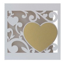 KARTEN und Zubehör / Cards Edles Kartenset: 5 filigrane Hochzeitskarten