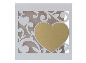 KARTEN und Zubehör / Cards Noble Card Set 5 filigran bryllup kort
