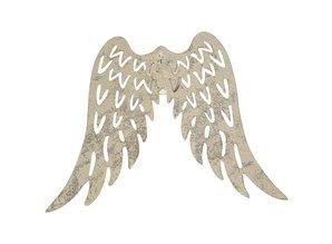 Embellishments / Verzierungen Wings, B: 7.5 cm, 2 pieces