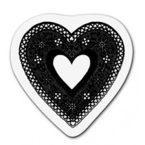 Transparent stamp: Lace heart